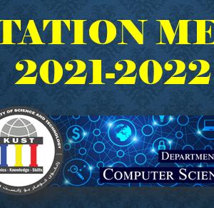 ORIENTATION MEETING 2021-2022